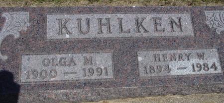 KUHLKEN, HENRY  W. - Woodbury County, Iowa | HENRY  W. KUHLKEN
