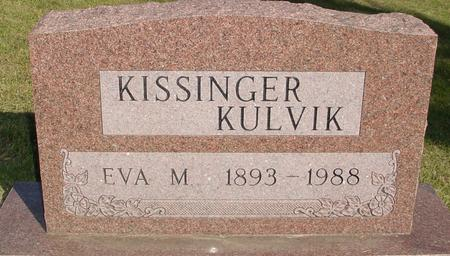 KISSINGER KULVIK, EVA M. - Woodbury County, Iowa | EVA M. KISSINGER KULVIK