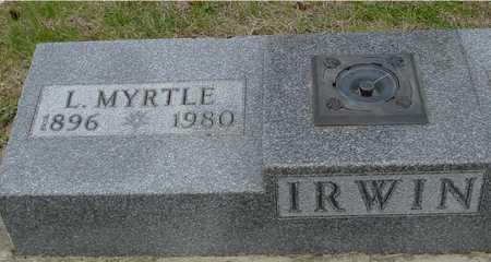 IRWIN, L. MYRTLE - Woodbury County, Iowa | L. MYRTLE IRWIN