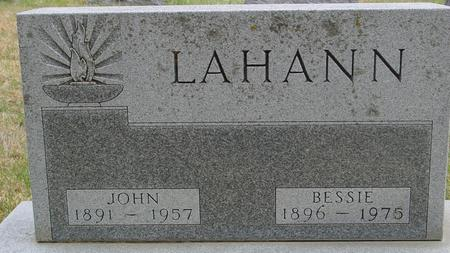 LAHANN, JOHN & BESSIE - Woodbury County, Iowa | JOHN & BESSIE LAHANN