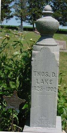 LAKE, THOMAS  D. - Woodbury County, Iowa | THOMAS  D. LAKE
