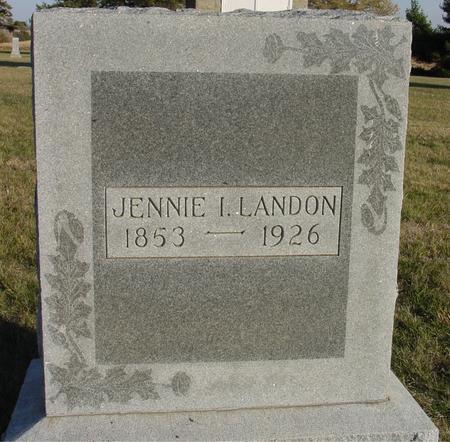 LANDON, JENNIE I. - Woodbury County, Iowa   JENNIE I. LANDON