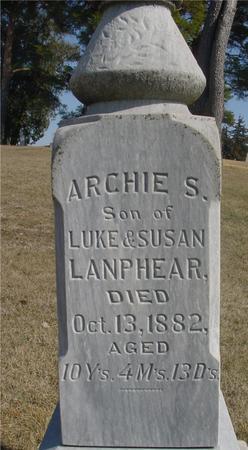 LANPHEAR, ARCHIE S. - Woodbury County, Iowa   ARCHIE S. LANPHEAR