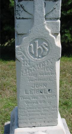LEIBOLD, JOHN - Woodbury County, Iowa | JOHN LEIBOLD