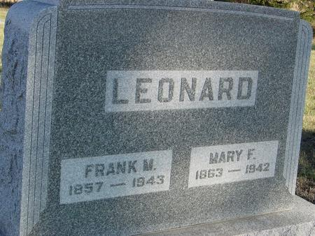 LEONARD, FRANK & MARY - Woodbury County, Iowa | FRANK & MARY LEONARD