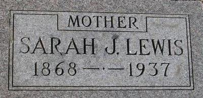 LEWIS, SARAH J. - Woodbury County, Iowa | SARAH J. LEWIS