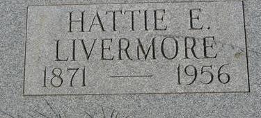 LIVERMORE, HATTIE E. - Woodbury County, Iowa | HATTIE E. LIVERMORE