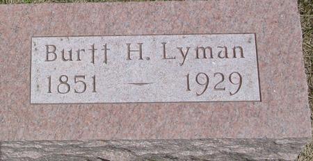 LYMAN, BURTT   H. - Woodbury County, Iowa | BURTT   H. LYMAN
