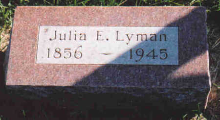 LYMAN, JULIA  E. - Woodbury County, Iowa | JULIA  E. LYMAN