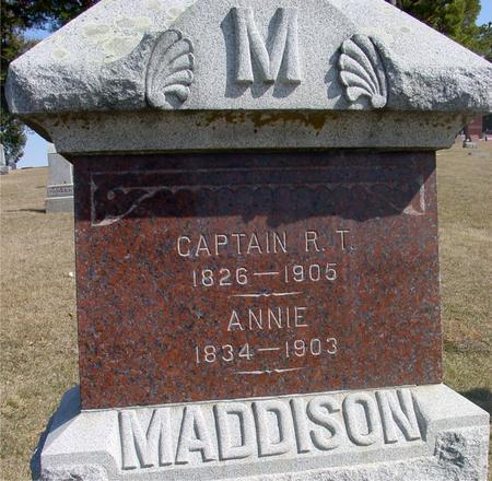 MADDISON, R. T. & ANNIE - Woodbury County, Iowa   R. T. & ANNIE MADDISON