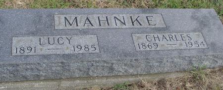 MAHNKE, CHARLES & LUCY - Woodbury County, Iowa   CHARLES & LUCY MAHNKE