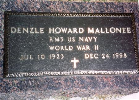 MALLONEE, DENZLE HOWARD - Woodbury County, Iowa   DENZLE HOWARD MALLONEE