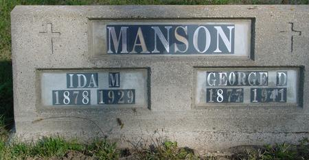 MANSON, GEORGE & IDA - Woodbury County, Iowa | GEORGE & IDA MANSON