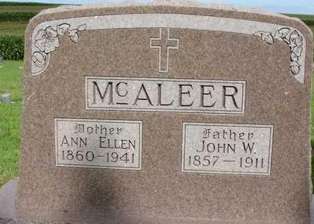 MCALEER, JOHN W. & ANN E. - Woodbury County, Iowa | JOHN W. & ANN E. MCALEER