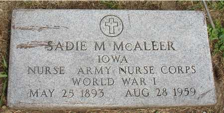 MCALEER, SADIE M. - Woodbury County, Iowa   SADIE M. MCALEER