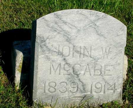 MCCABE, JOHN W. - Woodbury County, Iowa   JOHN W. MCCABE