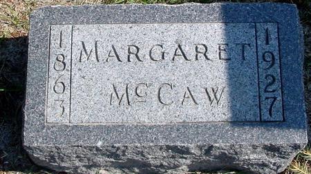 MCCAW, MARGARET - Woodbury County, Iowa   MARGARET MCCAW