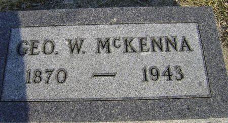 MCKENNA, GEORGE W - Woodbury County, Iowa   GEORGE W MCKENNA