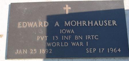 MOHRHAUSER, EDWARD A. - Woodbury County, Iowa | EDWARD A. MOHRHAUSER