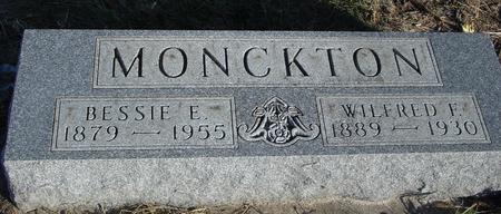 MONCKTON, WILFRED & BESSIE - Woodbury County, Iowa | WILFRED & BESSIE MONCKTON