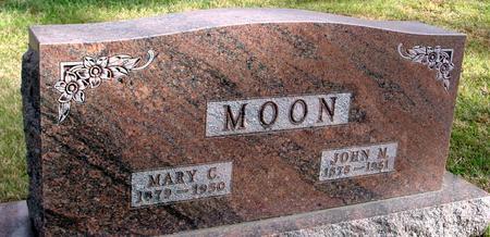 MOON, JOHN M. & MARY C. - Woodbury County, Iowa   JOHN M. & MARY C. MOON