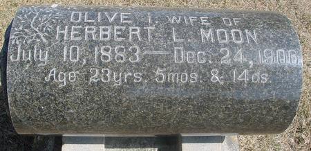 MOON, OLIVE I. - Woodbury County, Iowa   OLIVE I. MOON
