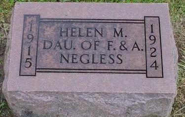 NEGLESS, HELEN M - Woodbury County, Iowa | HELEN M NEGLESS