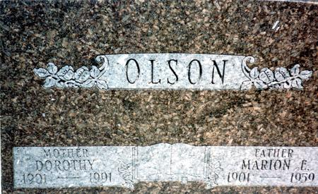 OLSON, MARION - Woodbury County, Iowa | MARION OLSON