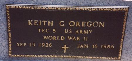 OREGON, KEITH G. - Woodbury County, Iowa   KEITH G. OREGON
