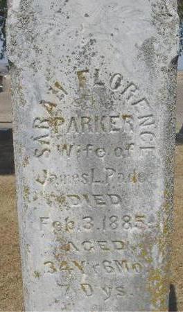 PARKER PADEN, SARAH FLORENCE - Woodbury County, Iowa   SARAH FLORENCE PARKER PADEN