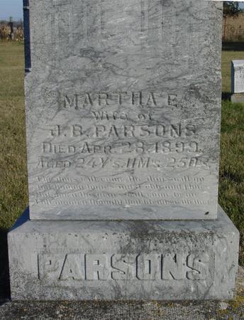 PARSONS, MARTHA E. - Woodbury County, Iowa | MARTHA E. PARSONS