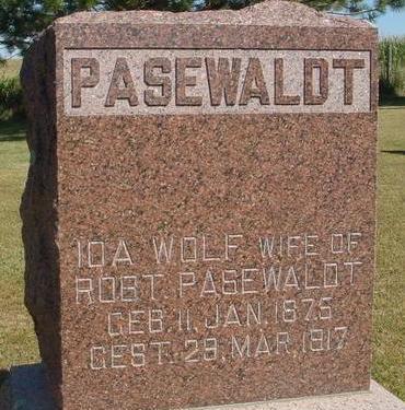 PASEWALDT, IDA - Woodbury County, Iowa | IDA PASEWALDT