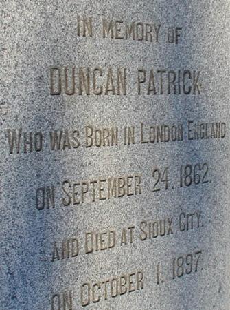 PATRICK, DUNCAN - Woodbury County, Iowa | DUNCAN PATRICK