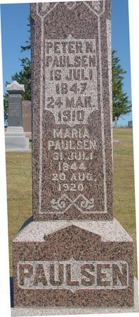 PAULSEN, PETER & MARIA - Woodbury County, Iowa   PETER & MARIA PAULSEN