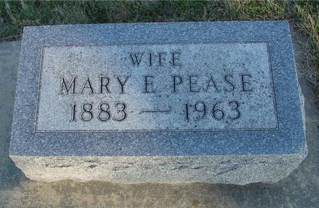 PEASE, MARY E. - Woodbury County, Iowa   MARY E. PEASE