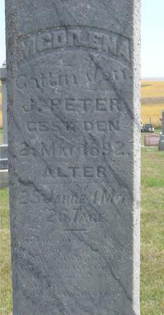 PETER, MAGDILENA - Woodbury County, Iowa | MAGDILENA PETER