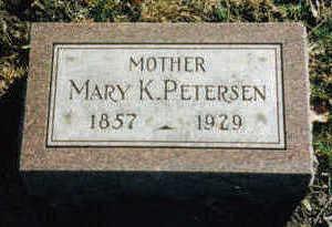 PETERSEN, MARY K. - Woodbury County, Iowa   MARY K. PETERSEN