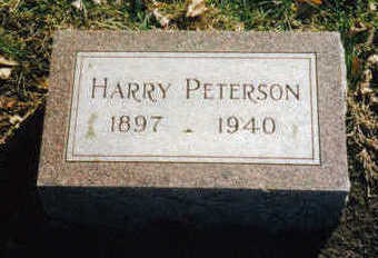 PETERSON, HARRY - Woodbury County, Iowa | HARRY PETERSON