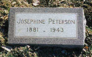 PETERSON, JOSEPHINE - Woodbury County, Iowa | JOSEPHINE PETERSON