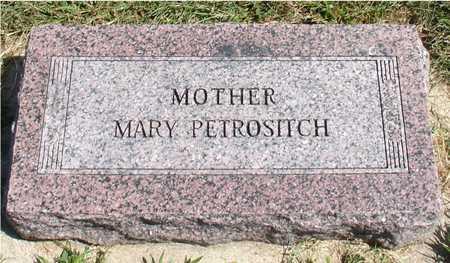 PETROSITCH, MARY - Woodbury County, Iowa   MARY PETROSITCH