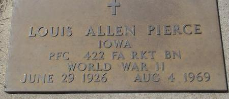 PIERCE, LOUIS ALLEN - Woodbury County, Iowa   LOUIS ALLEN PIERCE