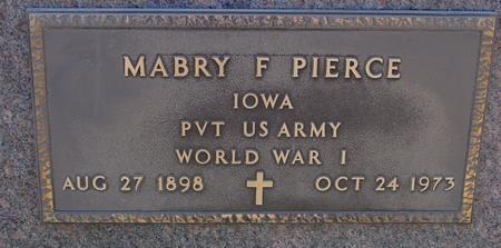 PIERCE, MABRY F. - Woodbury County, Iowa   MABRY F. PIERCE