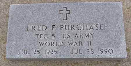 PURCHASE, FRED E. - Woodbury County, Iowa | FRED E. PURCHASE