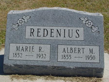 REDENIUS, ALBERT & MARIE - Woodbury County, Iowa   ALBERT & MARIE REDENIUS