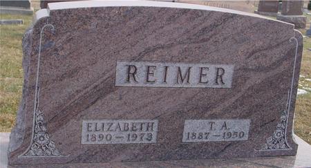 REIMER, T. A. & ELIZABETH - Woodbury County, Iowa | T. A. & ELIZABETH REIMER