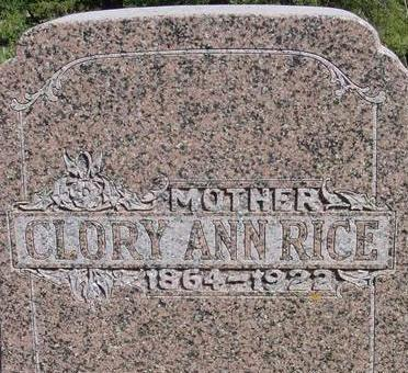 RICE, CLORY ANN - Woodbury County, Iowa | CLORY ANN RICE