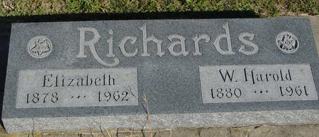 RICHARDS, W. HAROLD & ELIZ. - Woodbury County, Iowa | W. HAROLD & ELIZ. RICHARDS