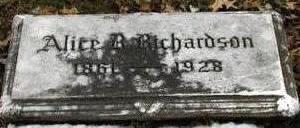 RICHARDSON, ALICE R - Woodbury County, Iowa | ALICE R RICHARDSON