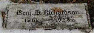 RICHARDSON, BENJAMIN D - Woodbury County, Iowa | BENJAMIN D RICHARDSON