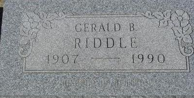 RIDDLE, GERALD B. - Woodbury County, Iowa | GERALD B. RIDDLE
